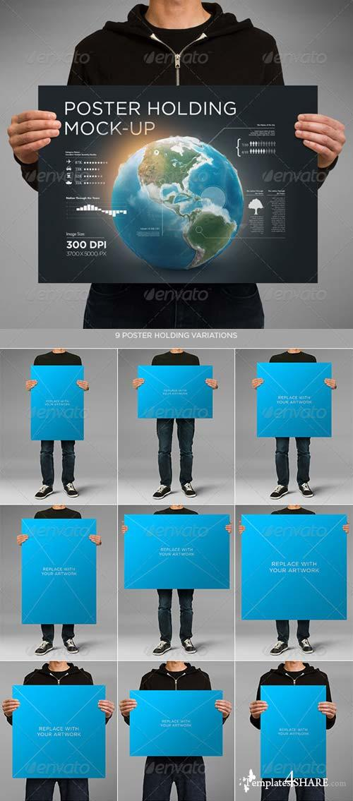 GraphicRiver Poster Holding Mock-up