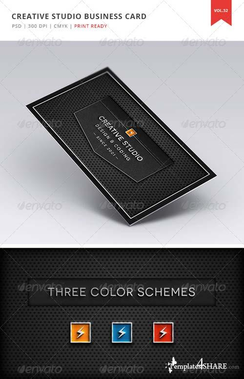 GraphicRiver Creative Studio Business Card - Vol. 52