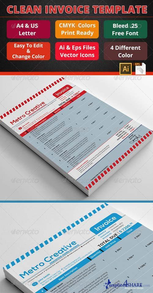 GraphicRiver Professional Invoice 04