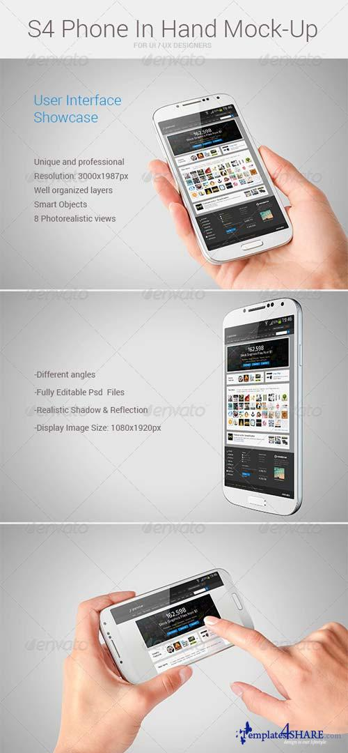 GraphicRiver S4 Phone In Hand Mock-Up