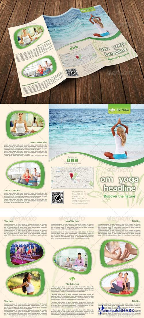GraphicRiver Yoga Trifold Brochure Template 06