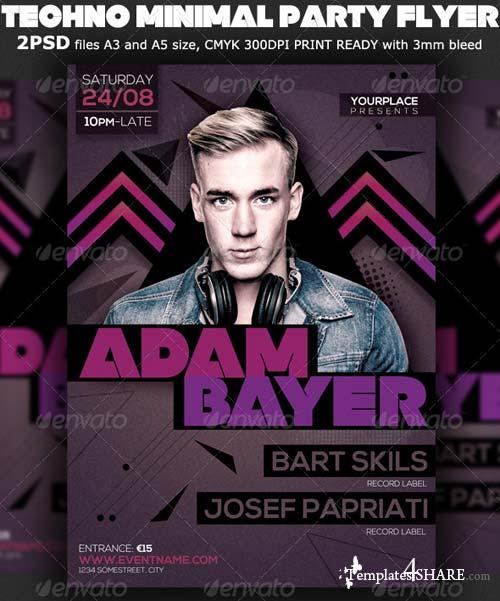 GraphicRiver Modern Minimal Party Flyer Template V3