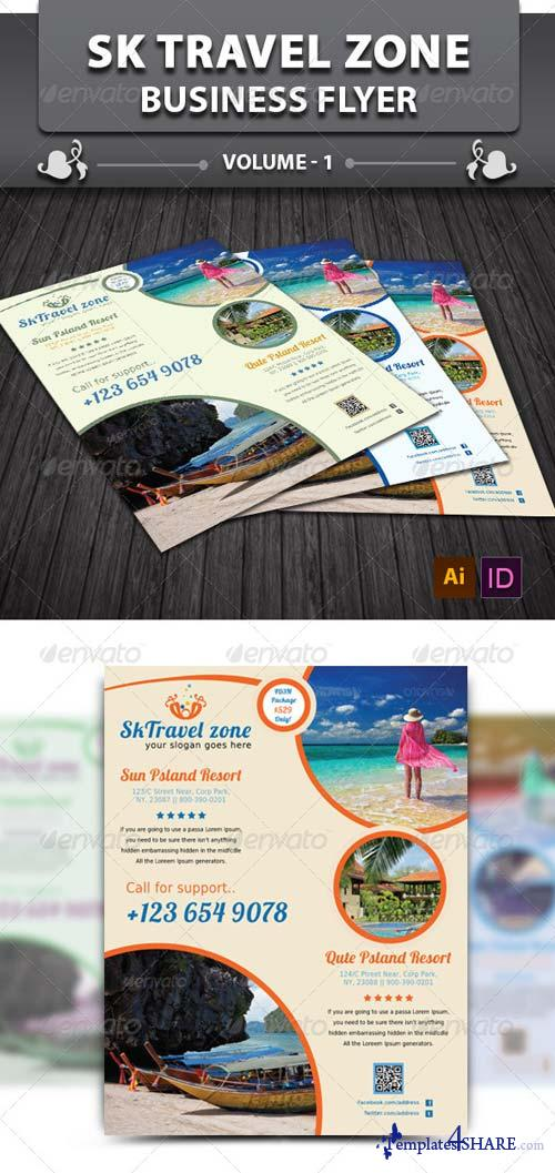 GraphicRiver Sk Travel Zone Business Flyer v1