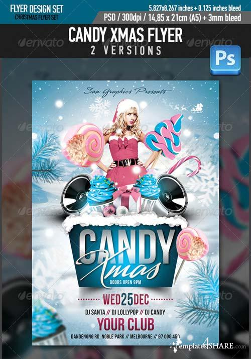 GraphicRiver Candy Xmas Christmas Party Flyer Template