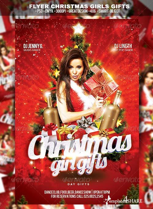 GraphicRiver Flyer Christmas Girl Gifts