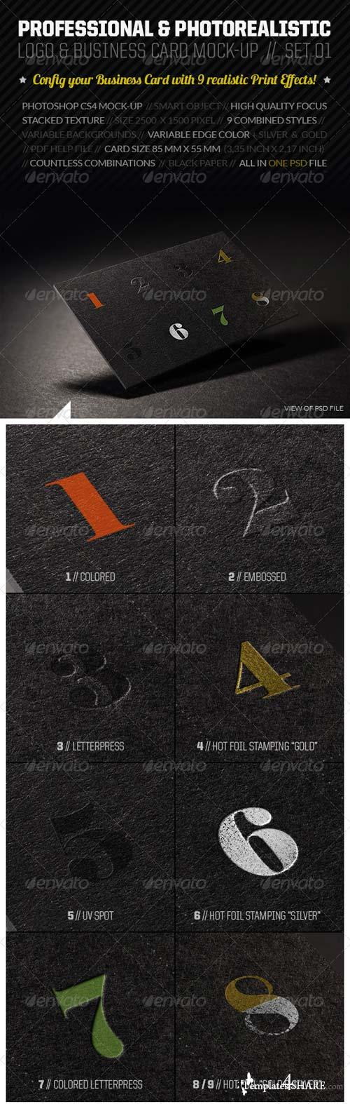 GraphicRiver Realistic Logo & Business Card Mock-Up Set 01