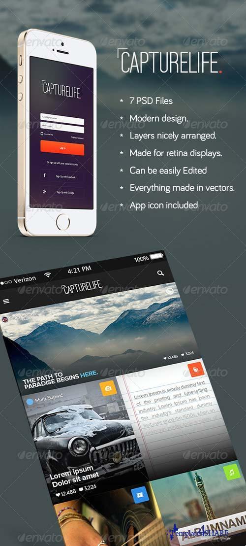 GraphicRiver CaptureLife - App Design