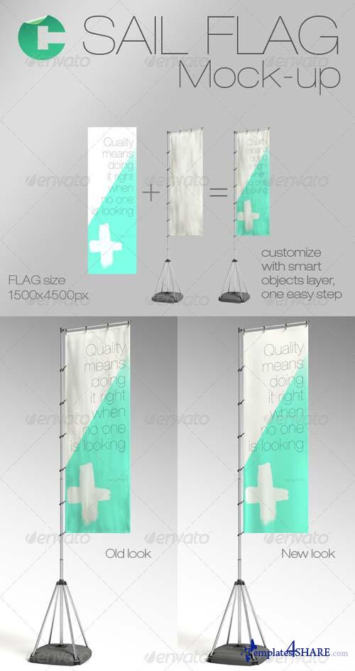 GraphicRiver Sail Flag Mock-up