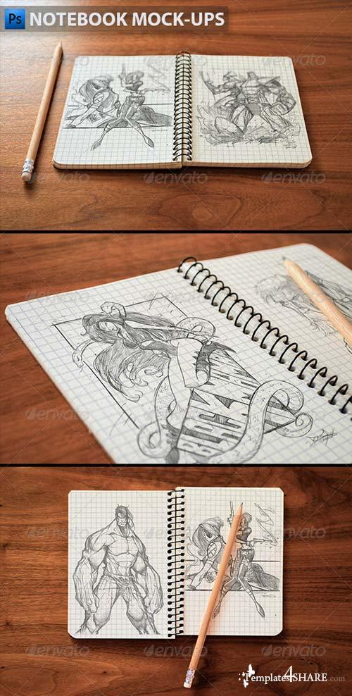 GraphicRiver Notebook Mock-Ups