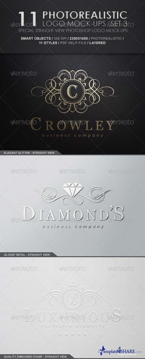 GraphicRiver 11 Photorealistic Logo Mock-Ups / Set 3