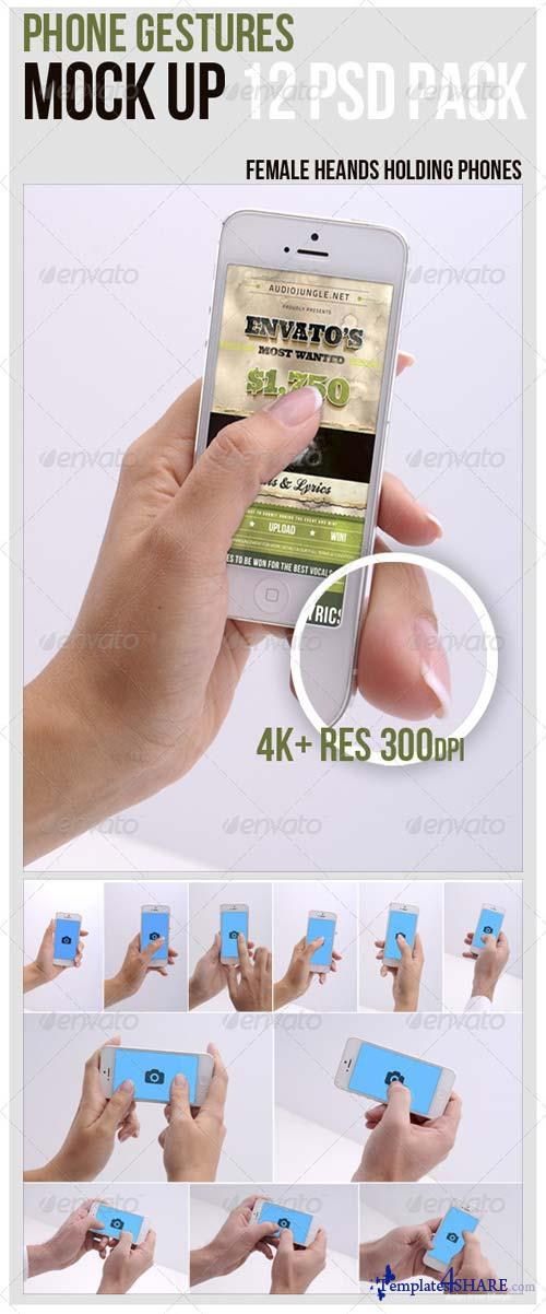 GraphicRiver Phone Gestures Mockup
