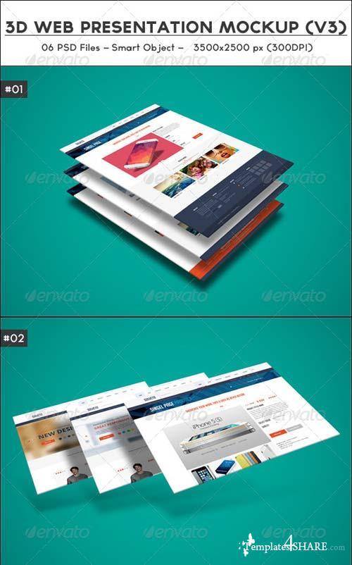 GraphicRiver 3D Web Presentation Mockup (V3)