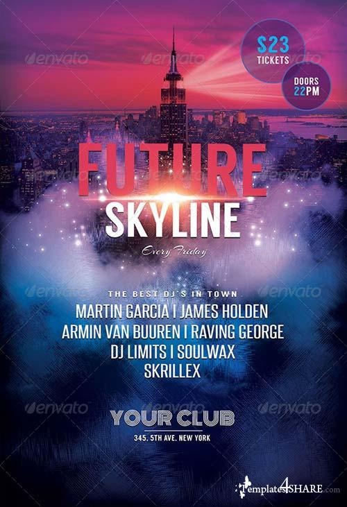 GraphicRiver Future Skyline Flyer
