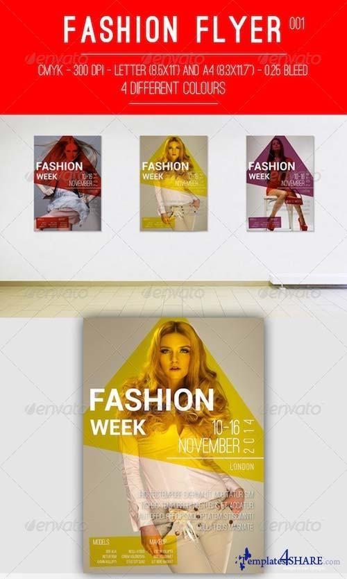 GraphicRiver Fashion Flyer 001