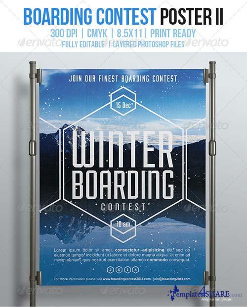 GraphicRiver Boarding Contest Poster II
