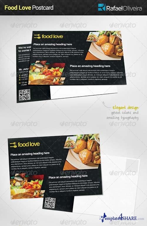 GraphicRiver Food Love Postcard