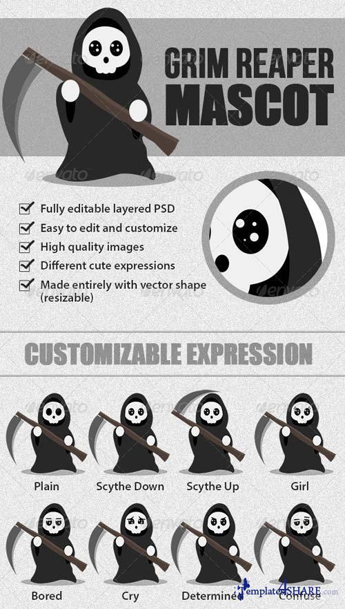 GraphicRiver Grim Reaper Mascot