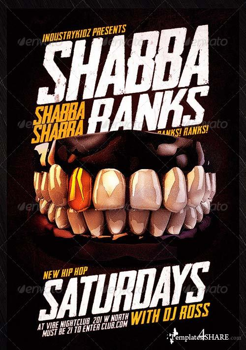 GraphicRiver Shabba Ranks Flyer Psd