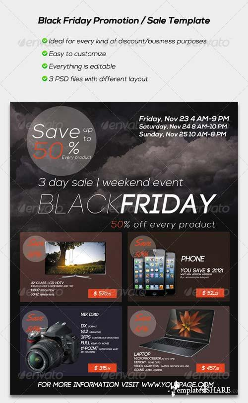 GraphicRiver Black Friday Promotion / Sale Flyer Template
