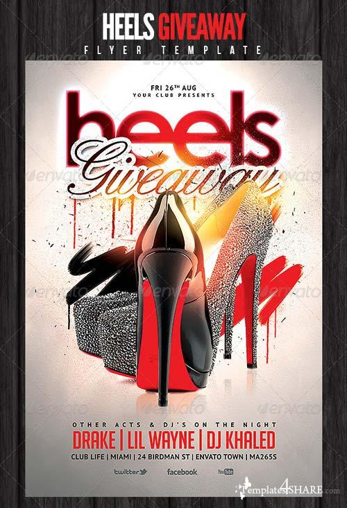 GraphicRiver Heels Giveaway Flyer Template