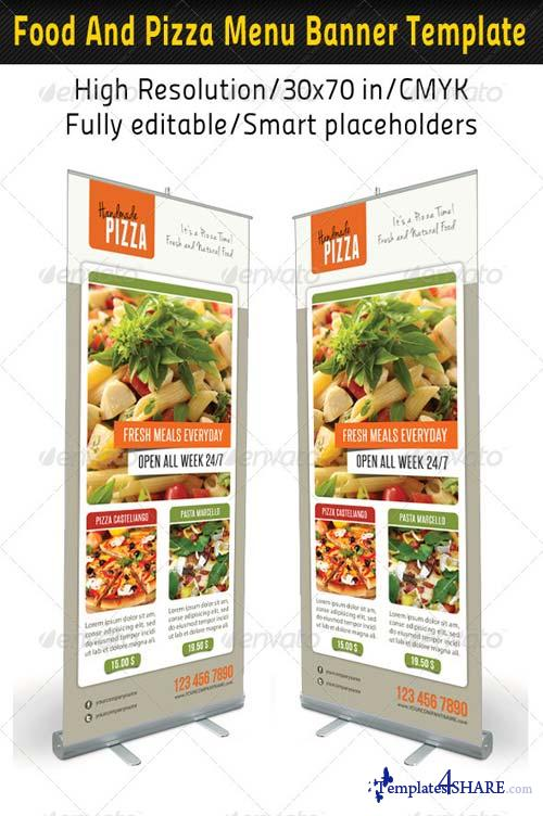 GraphicRiver Food And Pizza Menu Banner Template 05