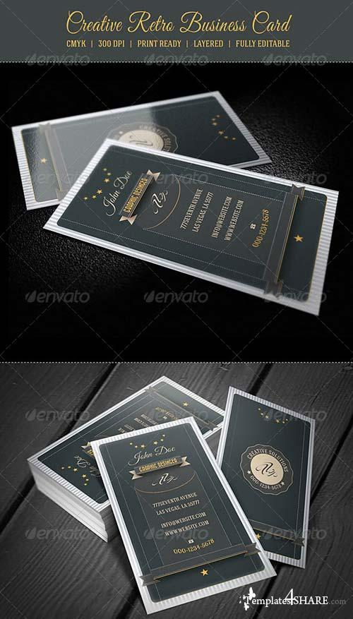 GraphicRiver Creative Retro Business Card