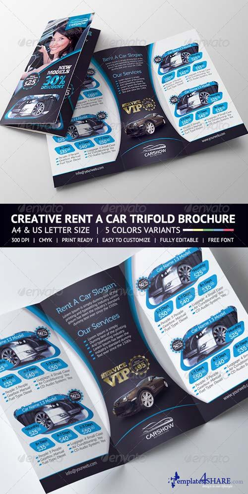 GraphicRiver Rent A Car Trifold Brochure