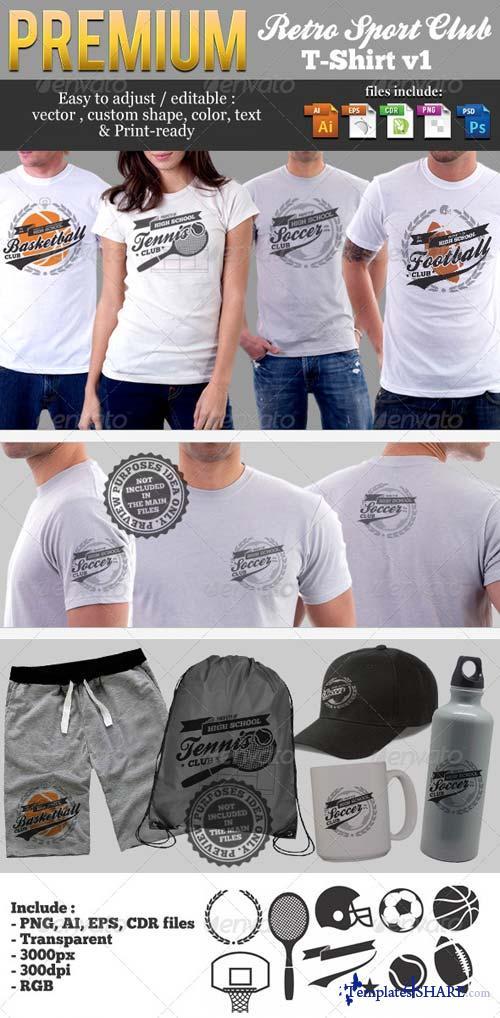 GraphicRiver Retro Sport Club T-Shirt Template v1
