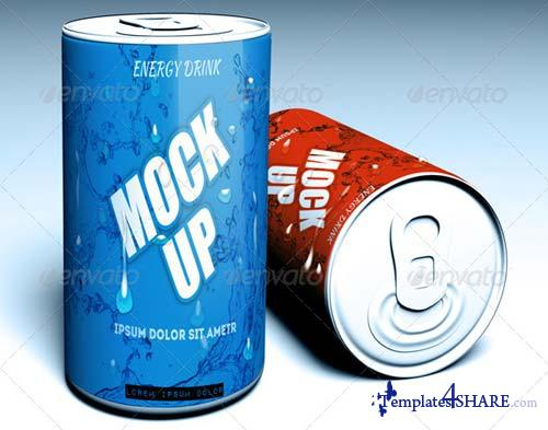 GraphicRiver Energy Drink Mock-Up