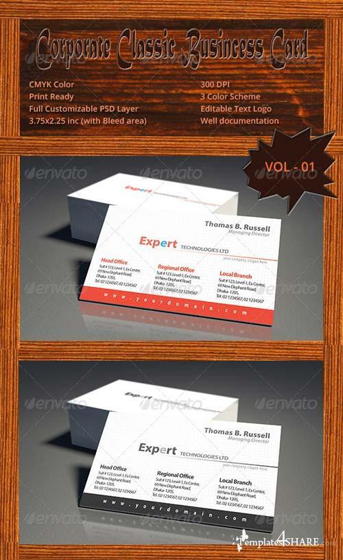 GraphicRiver Corporate Classic Business Card Vol - 01