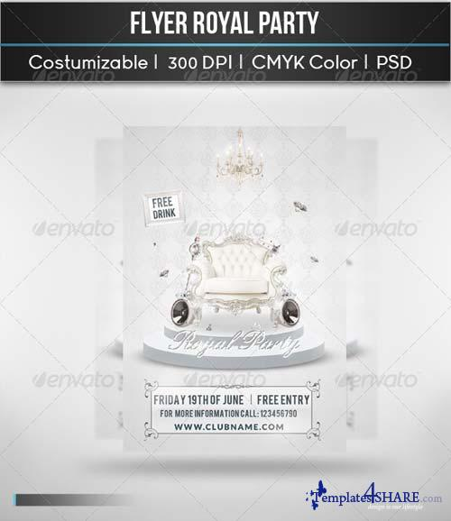 GraphicRiver Flyer Royal Party