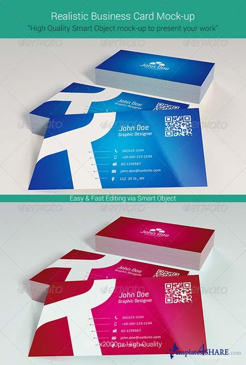 GraphicRiver Realistic Business Card Mock-Up 6042400