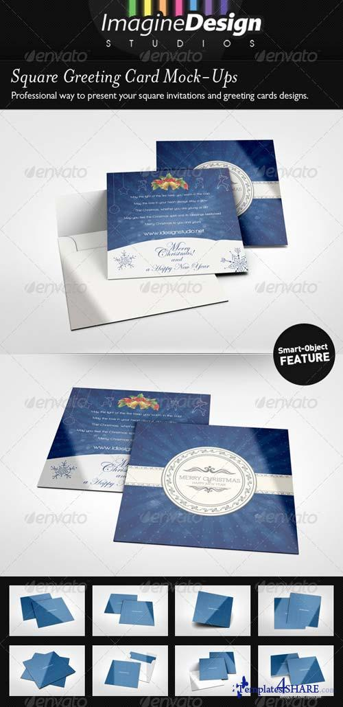 GraphicRiver Square Greeting Card Mockup
