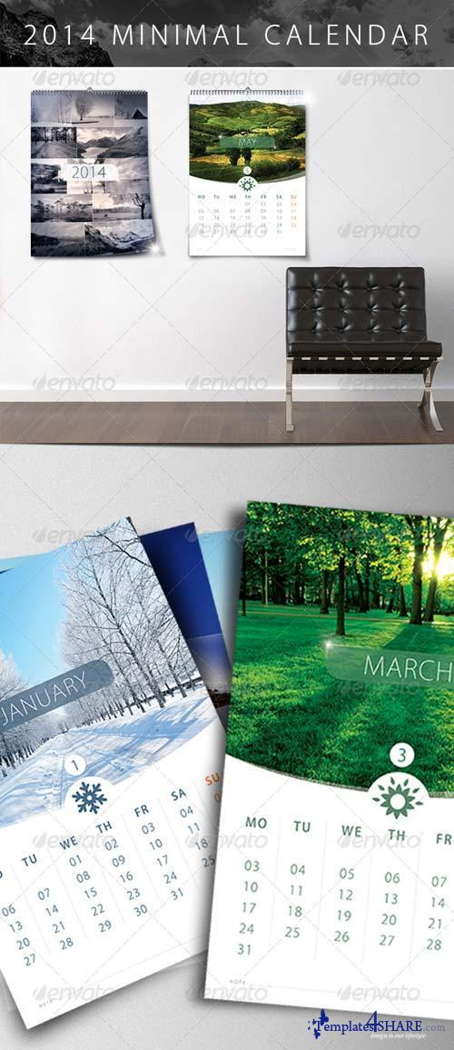 GraphicRiver 2014 Calendar Minimal