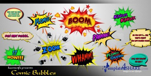 Comic Bubbles - After Effects Project (Videohive)
