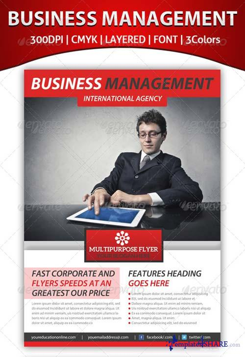 GraphicRiver Business Management Flyer Template