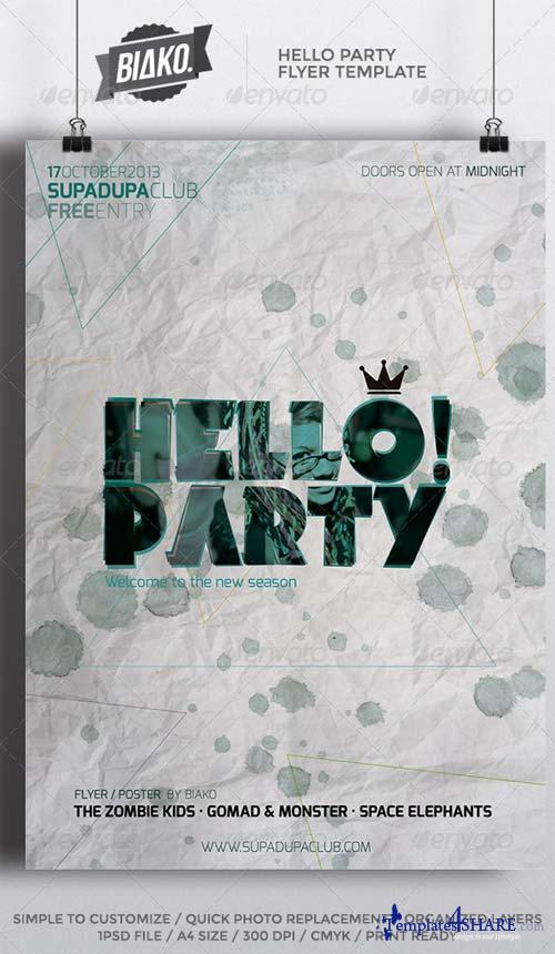GraphicRiver Hello Party Flyer / Poster Template