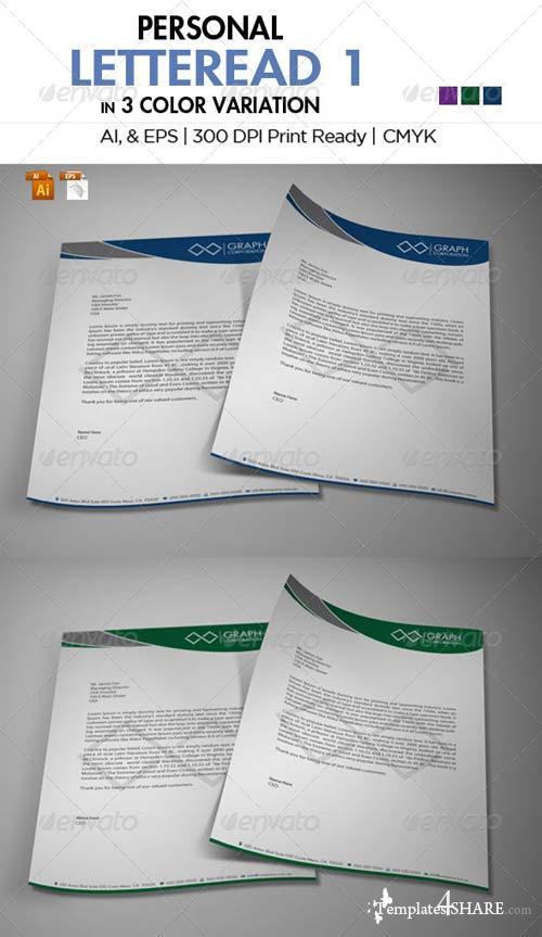 GraphicRiver Personal Letterhead 1