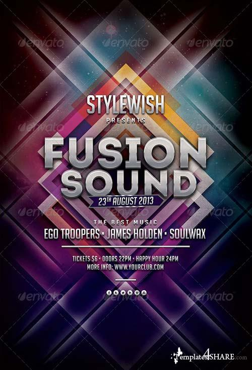 GraphicRiver Fusion Sound Flyer