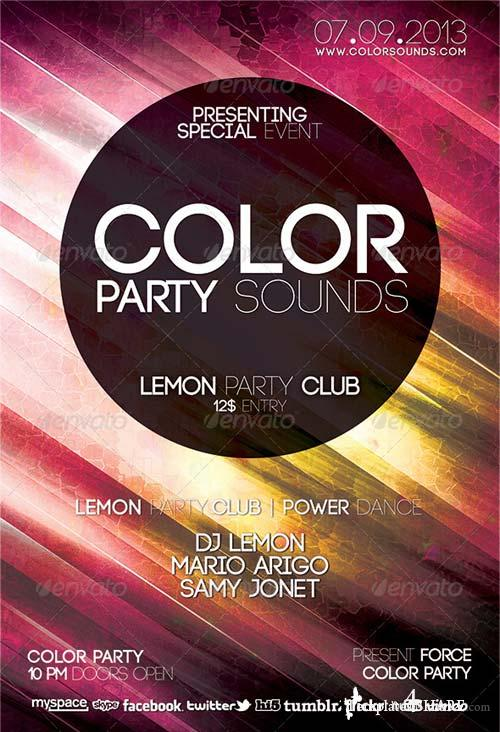 GraphicRiver Color Party Sound Flyer