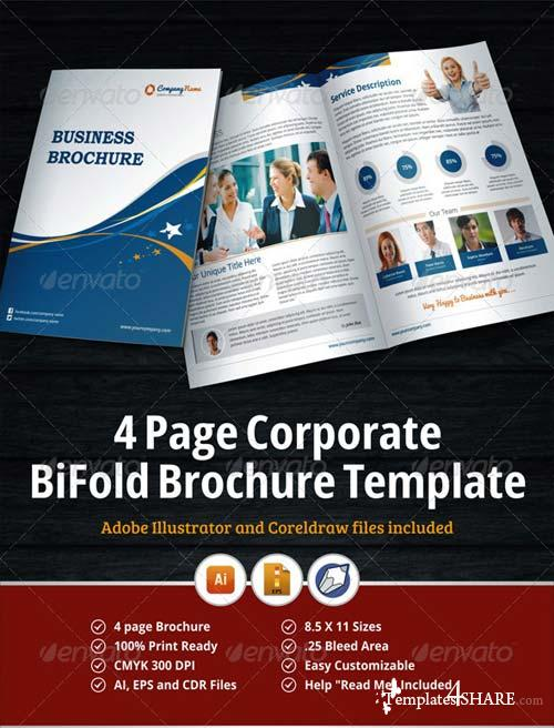Graphicriver 4 page corporate bifold brochure template for 4 page brochure template free