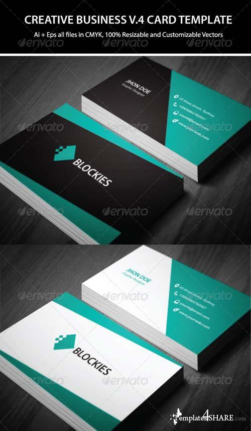 GraphicRiver 2 Colors Creative Business Card V.4