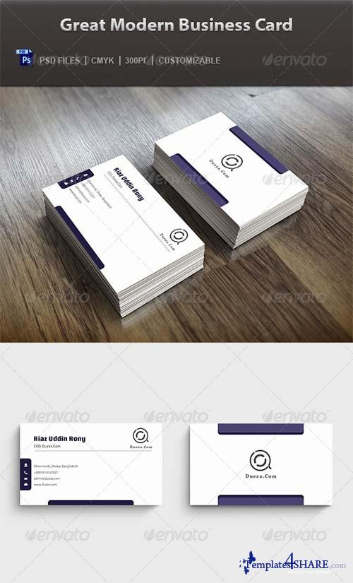 GraphicRiver Great Modern Business Card