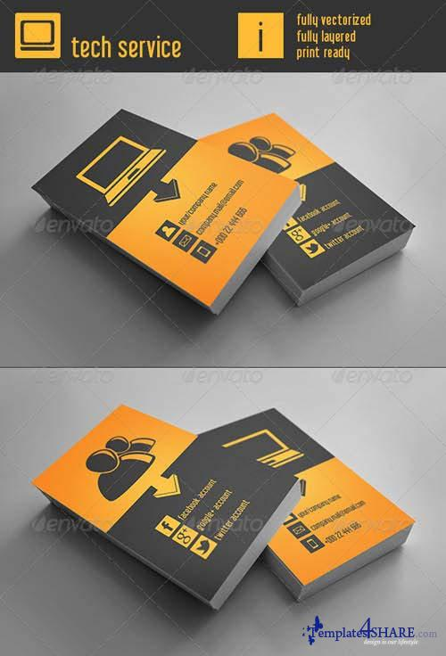 GraphicRiver Tech Service Business Card
