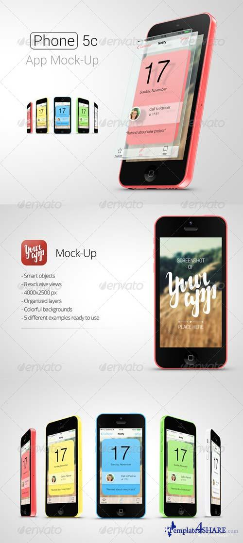 GraphicRiver Phone 5c App Mock-Up