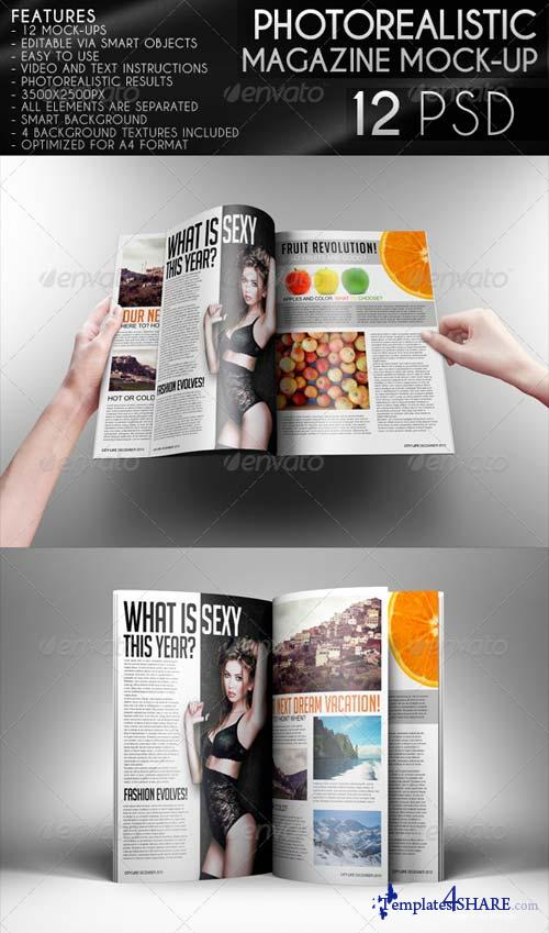 GraphicRiver Photorealistic Magazine Mock-Up 6155084