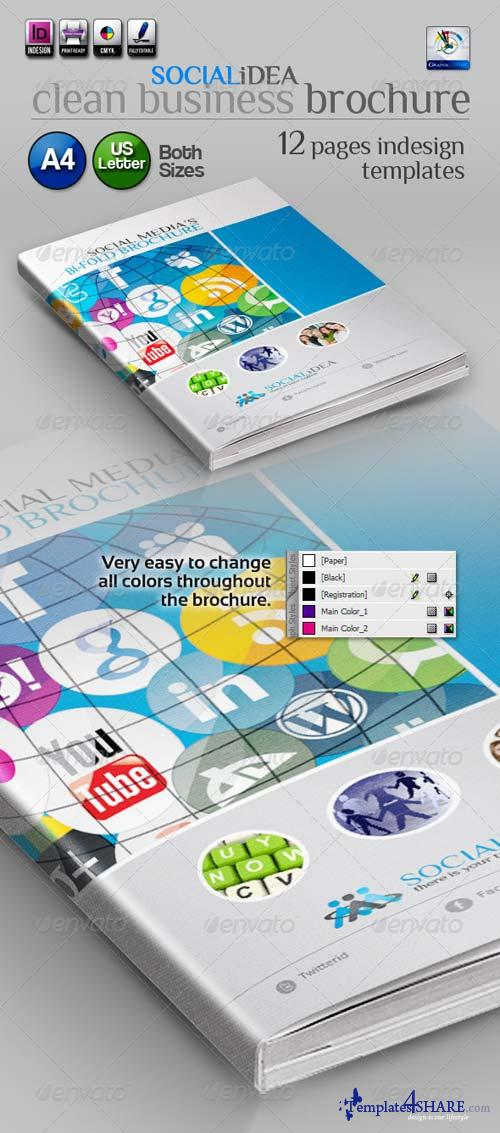 GraphicRiver Socialidea: Social Media Clean Bi-fold Brochure