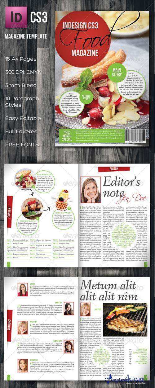 GraphicRiver InDesign A4 Food Magazine