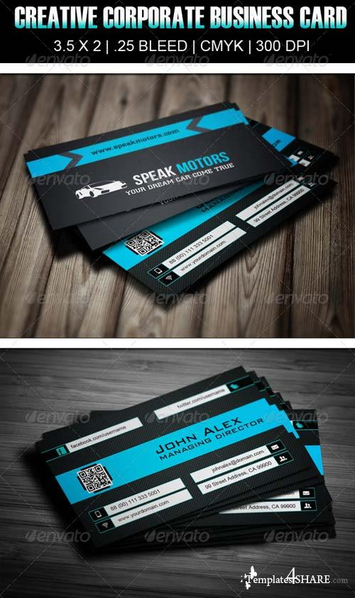 GraphicRiver Speak Motors Creative Business Card Design