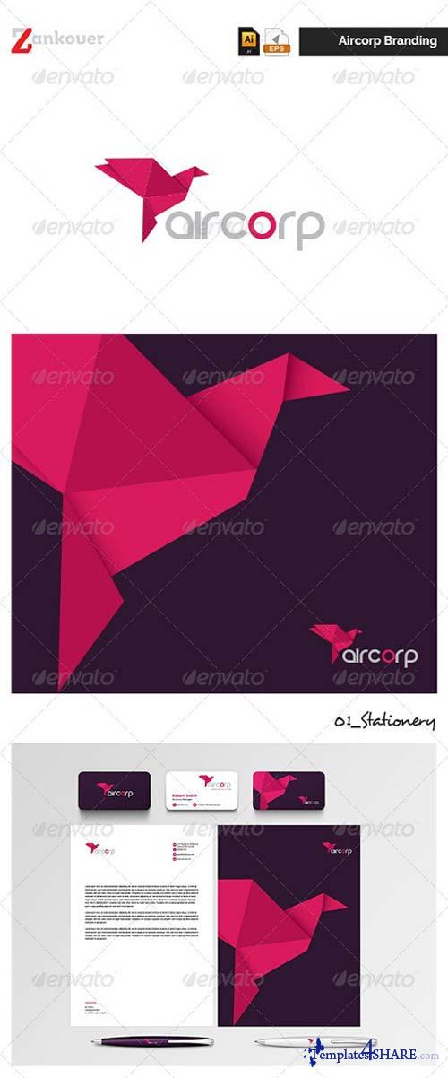 GraphicRiver Stationary & Brand Identity - Aircorp